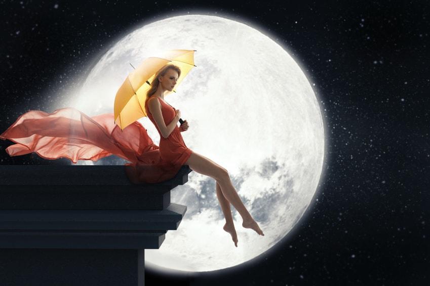 Supervollmond im August, Vollmond, Beziehung, Gegensätze, Licht, Schatten
