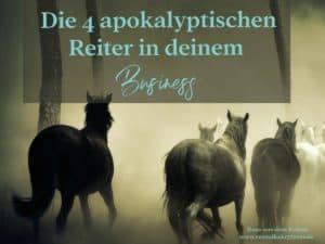 Apokalyptische Reiter, John Gottman, Business, Selbstzweifel, Kritiker, Perfektionismus, Prokrastination